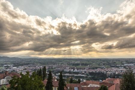 Ausblick von Mondovì im Piemont