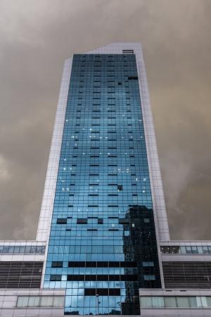 Gewitterwolken über Singapur
