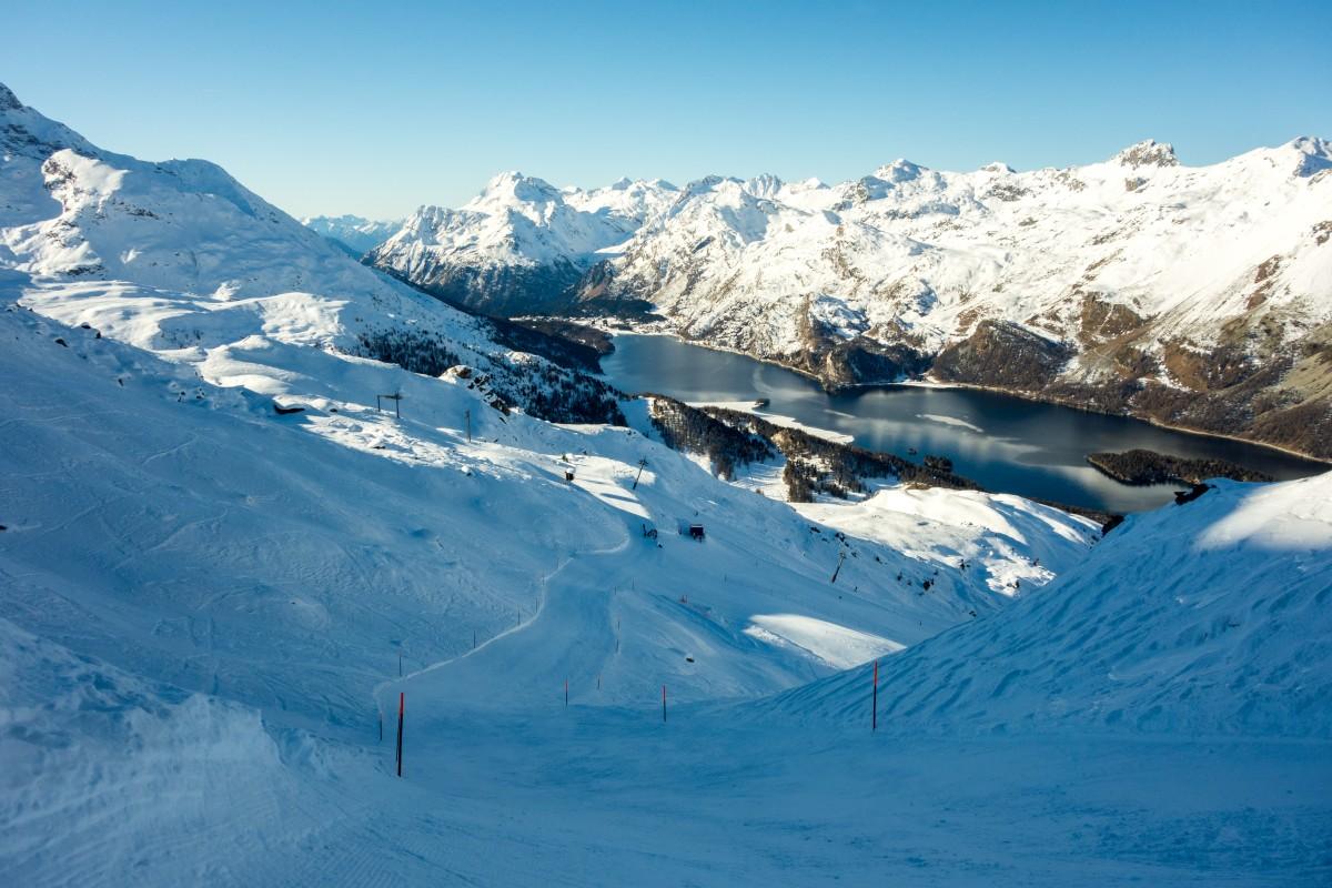 Skifahren im Engadin