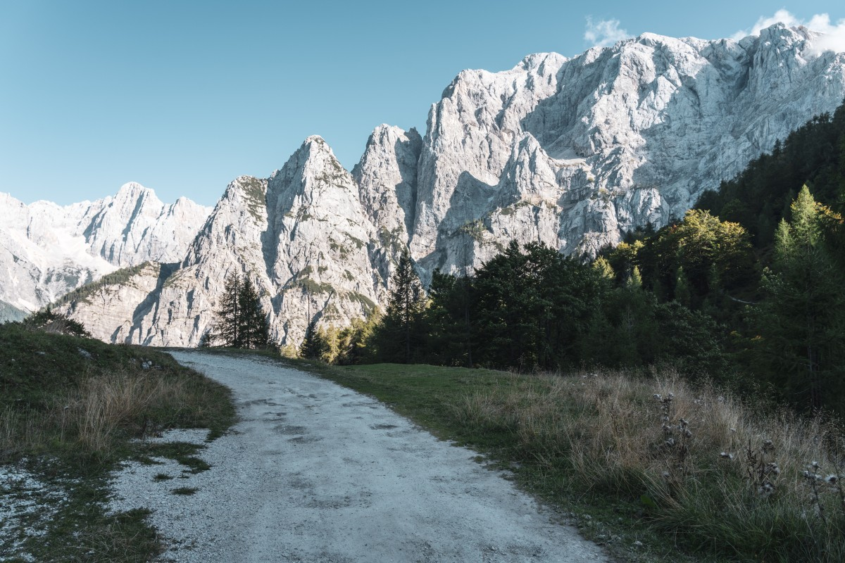 Landschaft am Vršičpass