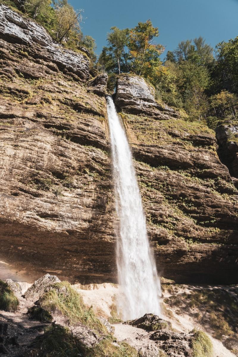 Peričnik-Wasserfall im Triglav-Nationalpark in Slowenien