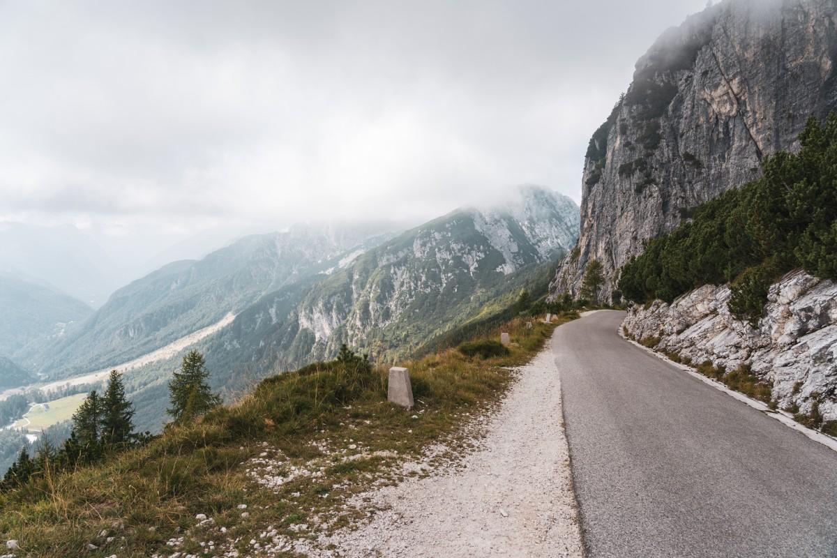 Mangart-Straße in Slowenien