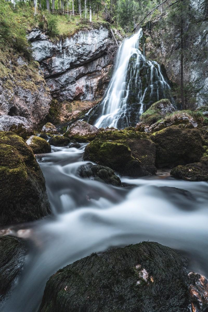 Landschaftsfotografie am Gollinger Wasserfall im Herbst