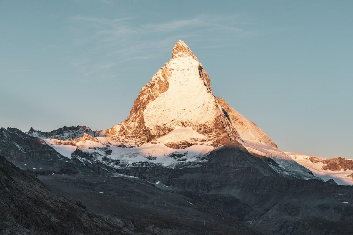 Sonnenaufgang am Matterhorn von Rotenboden