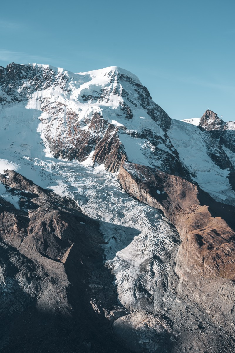 Gletscher am Breithorn