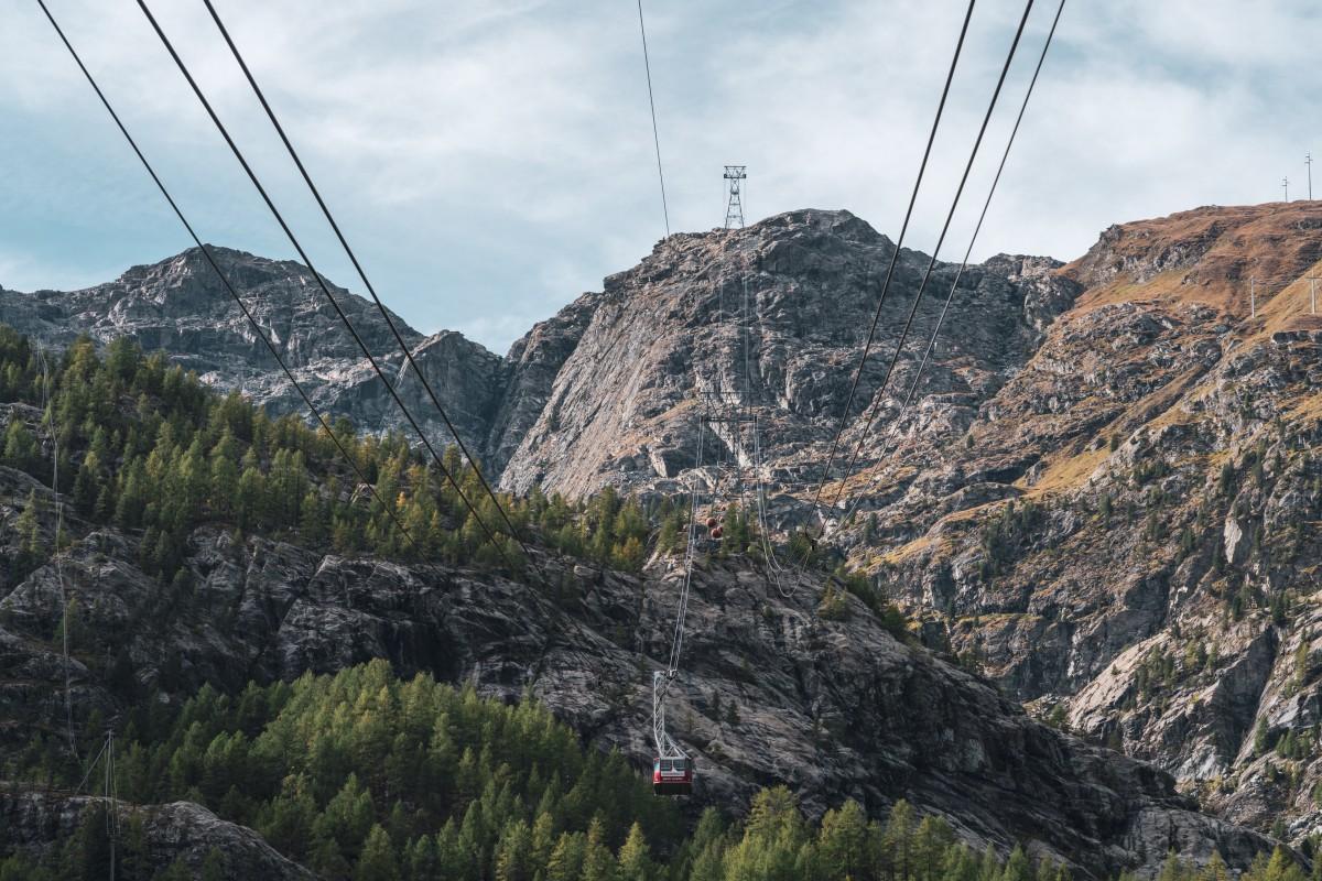 Seilbahn Furi - Trockener Steg in Zermatt