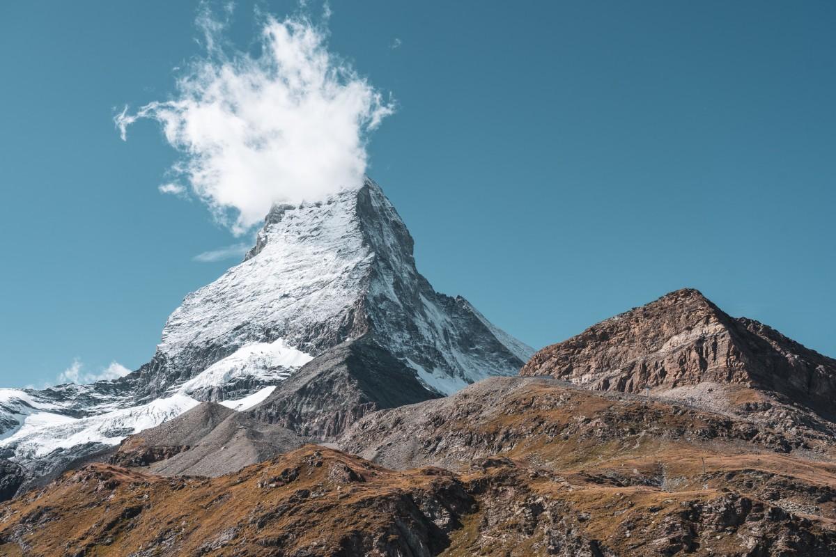 Matterhorn mit Wolke am Schwarzsee