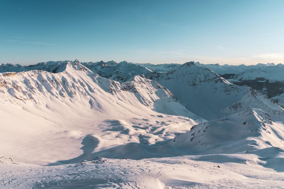 Sonnenuntergang auf der Alp Sanaspans über der Lenzerheide