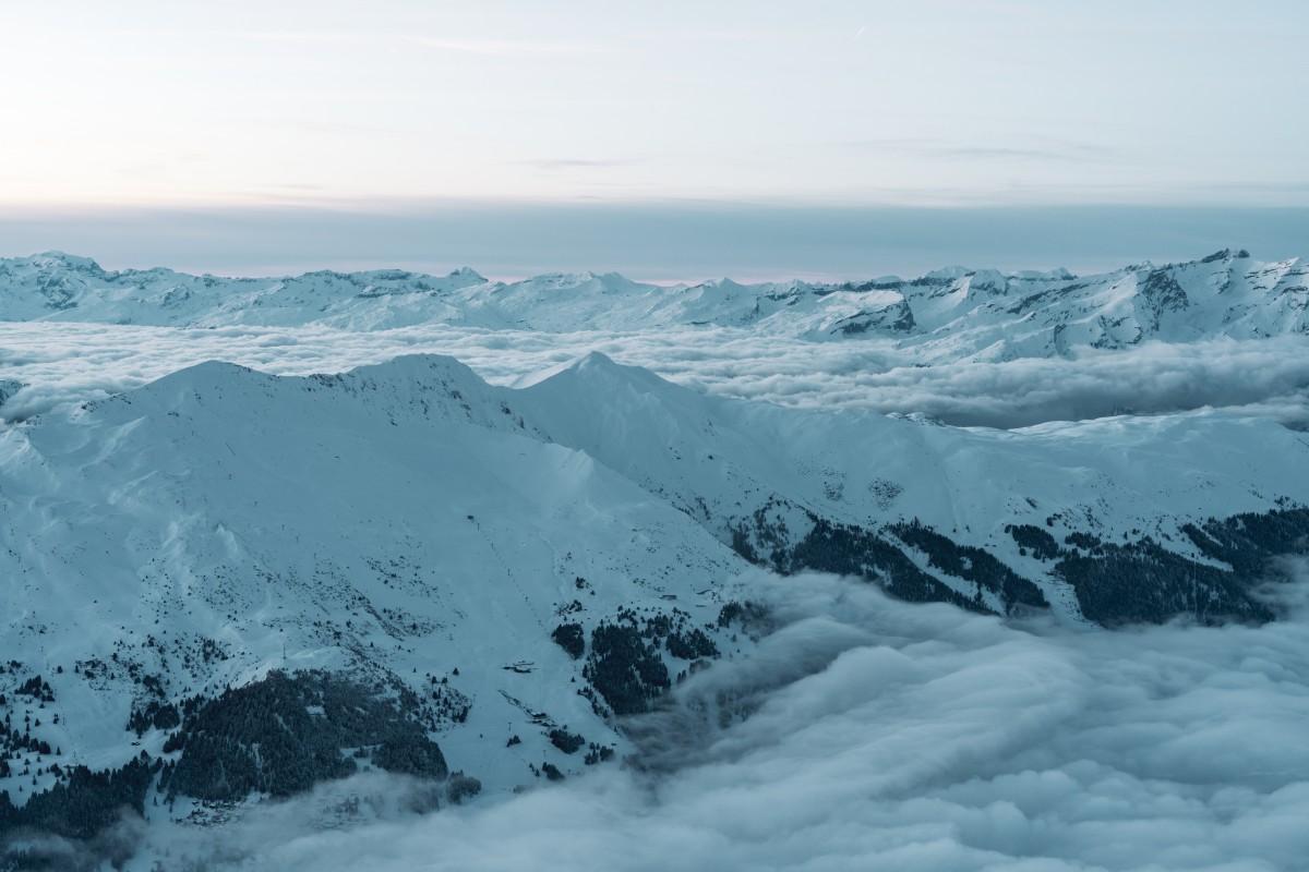 Alp Stätz und Stätzerhorn mit Nebelmeer