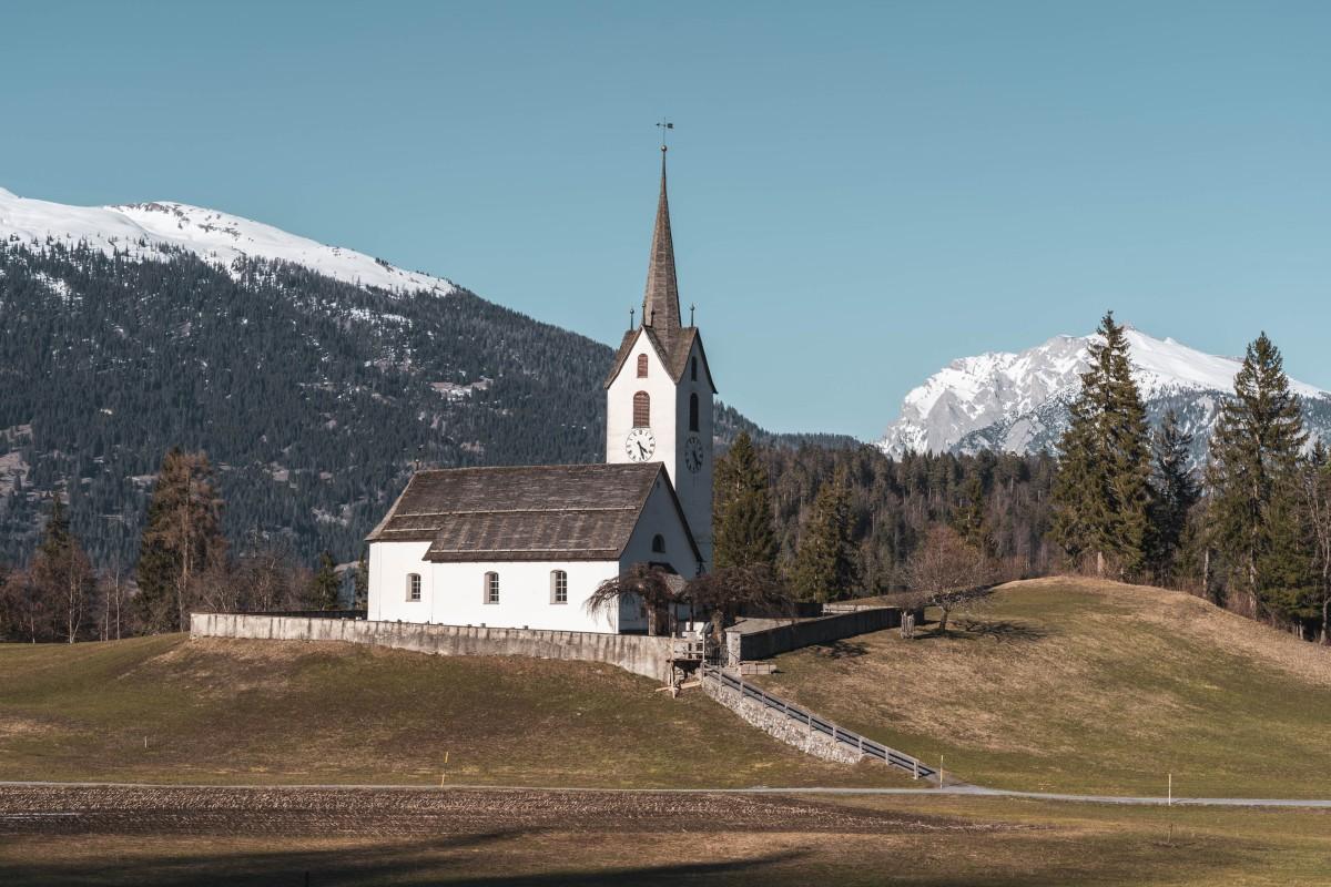 Kirche in Versam im Safiental