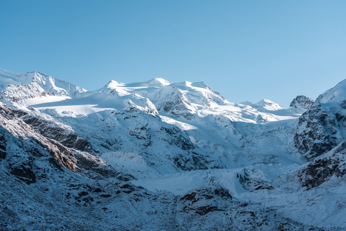 Morteratsch-Gletscher im Herbst