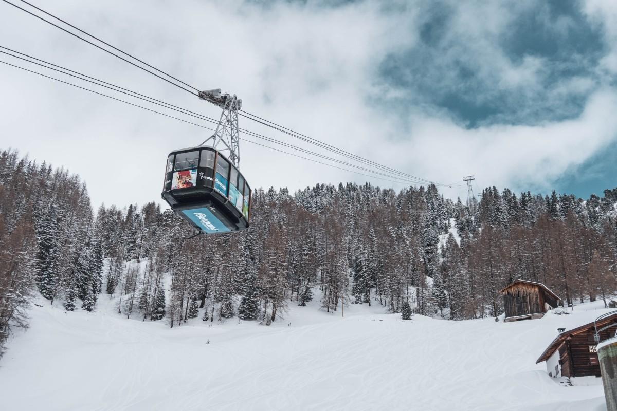 Seilbahn im Skigebiet Davos-Pischa