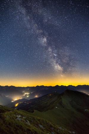 Milchstraße am Stätzerhorn in den Schweizer Alpen