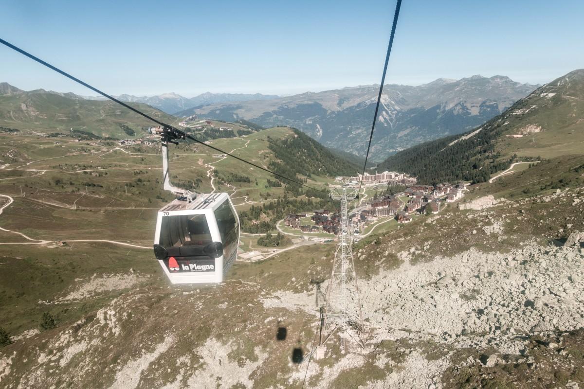 Kabinenbahn Roche de Mio in La Plagne