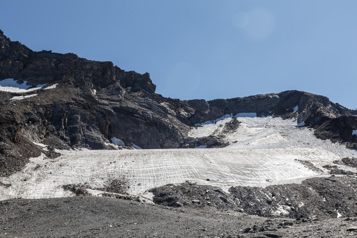 Überreste des Glacier de la Chiaupe in La Plagne