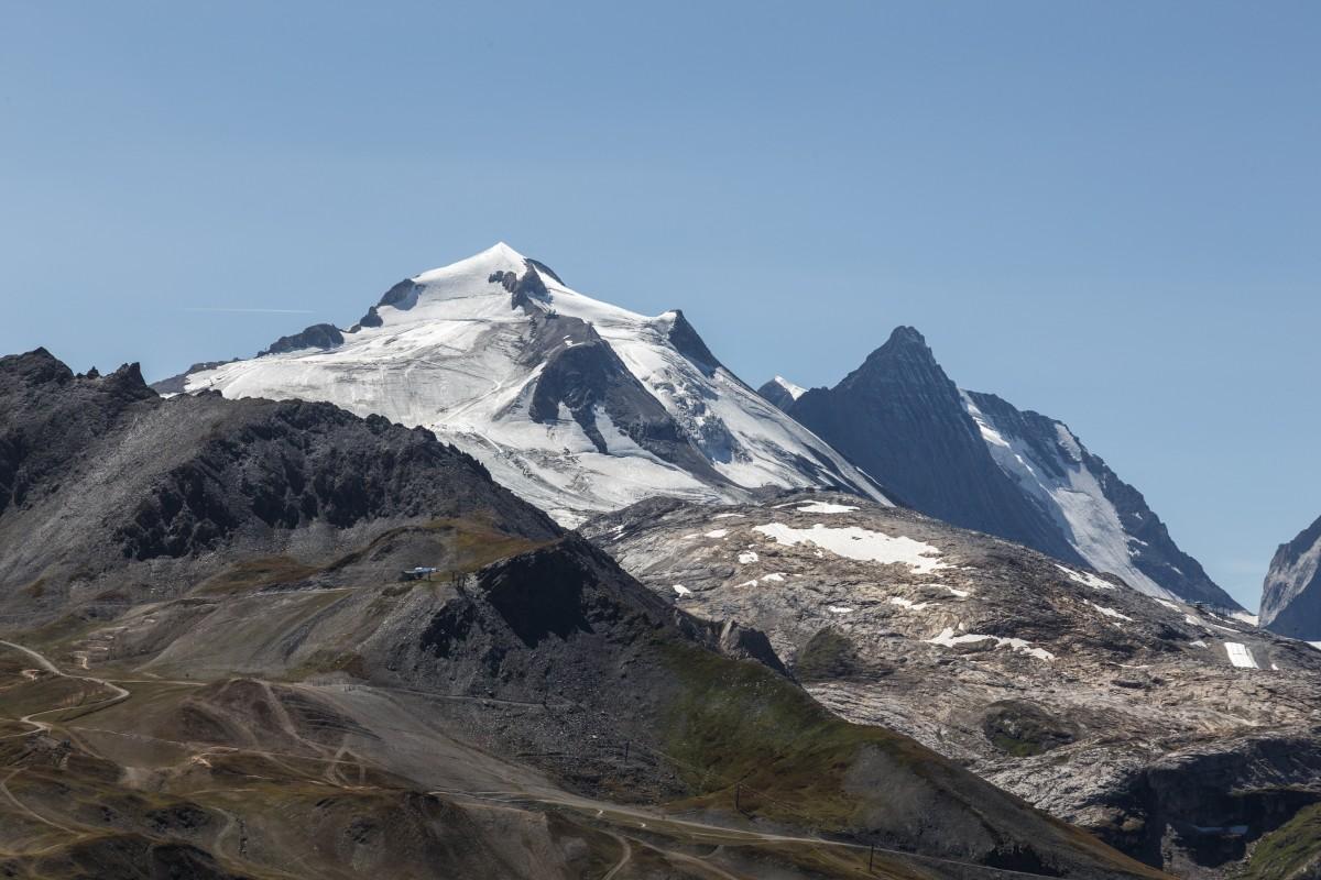 Gletscher mit Sommerski Grande Motte in Tignes