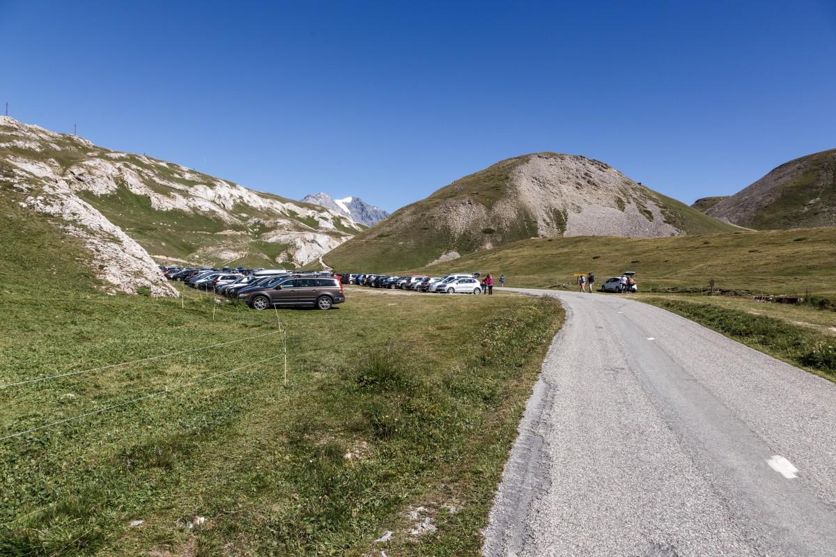 Parking Bellecôte im Nationalpark Vanoise