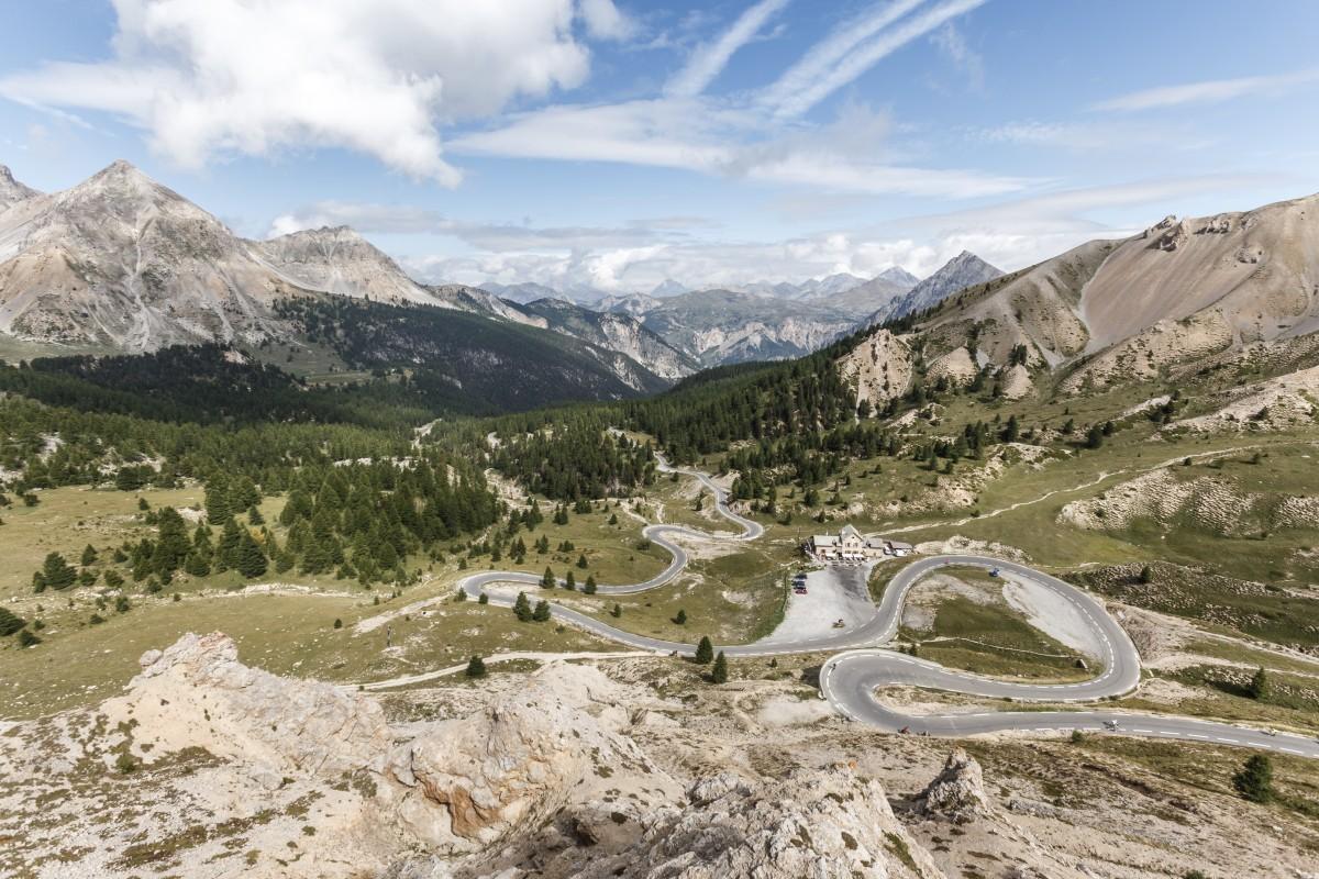 Passstraße zum Col d'Izoard in Frankreich