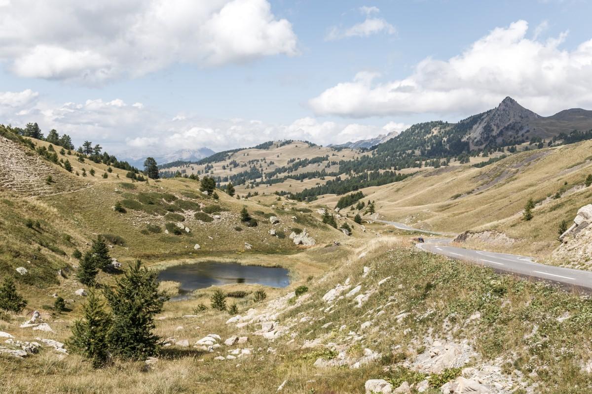 Passstraße zum Col de Vars in den französischen Alpen