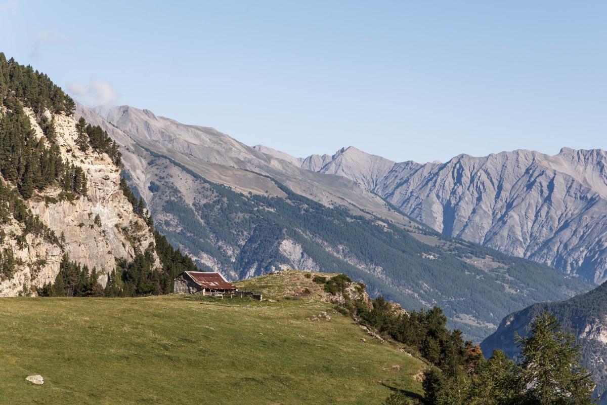 Landschaft im Nationalpark Mercantour in den französischen Alpen