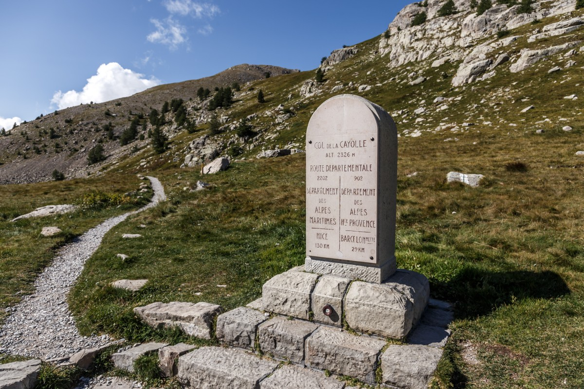 Passhöhe am Col de la Cayolle