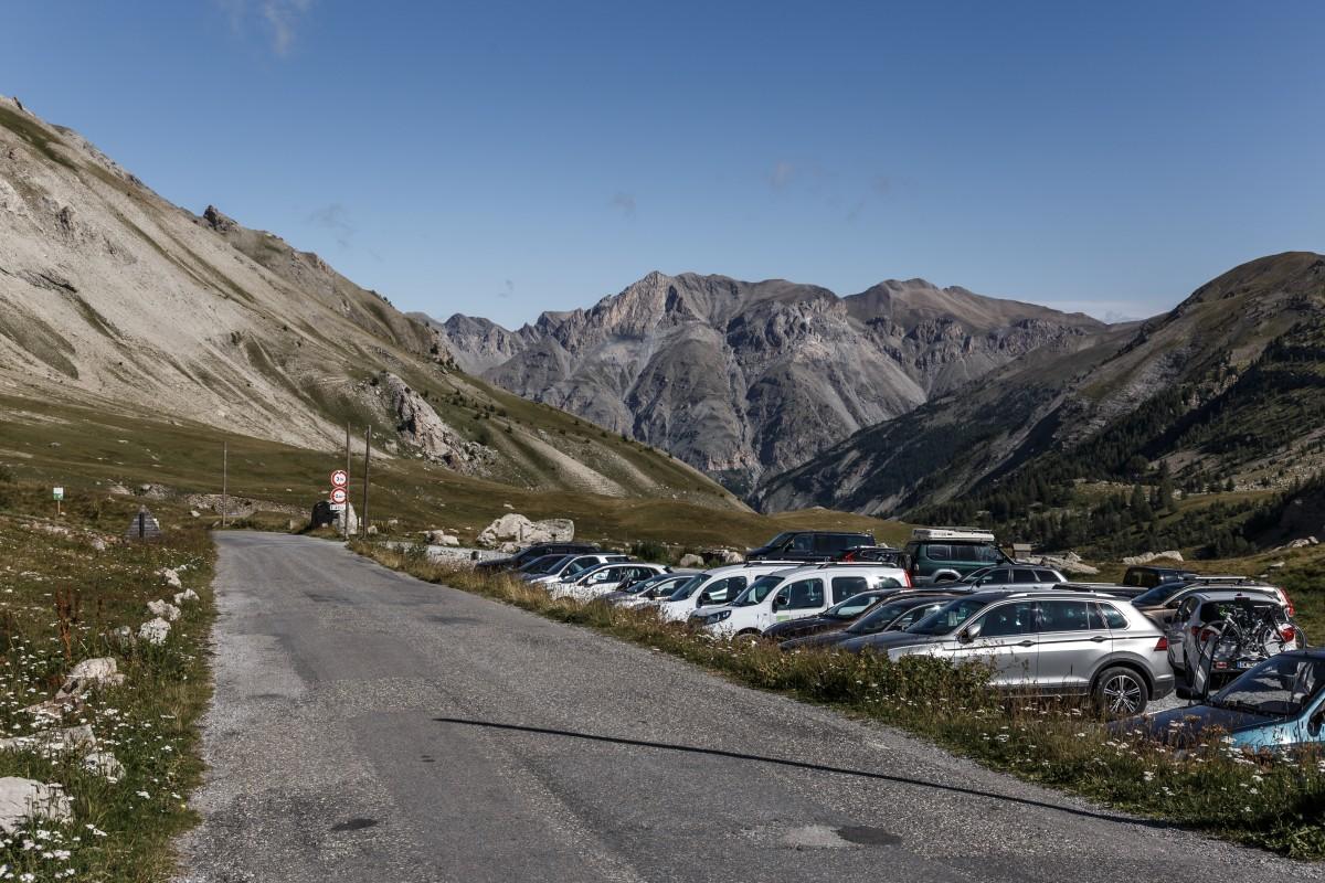 Parkplatz auf dem Col de la Cayolle