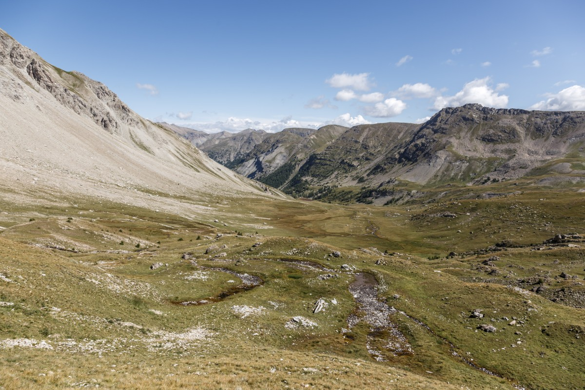 Landschaft im Nationalpark Mercantour am Col de la Cayolle