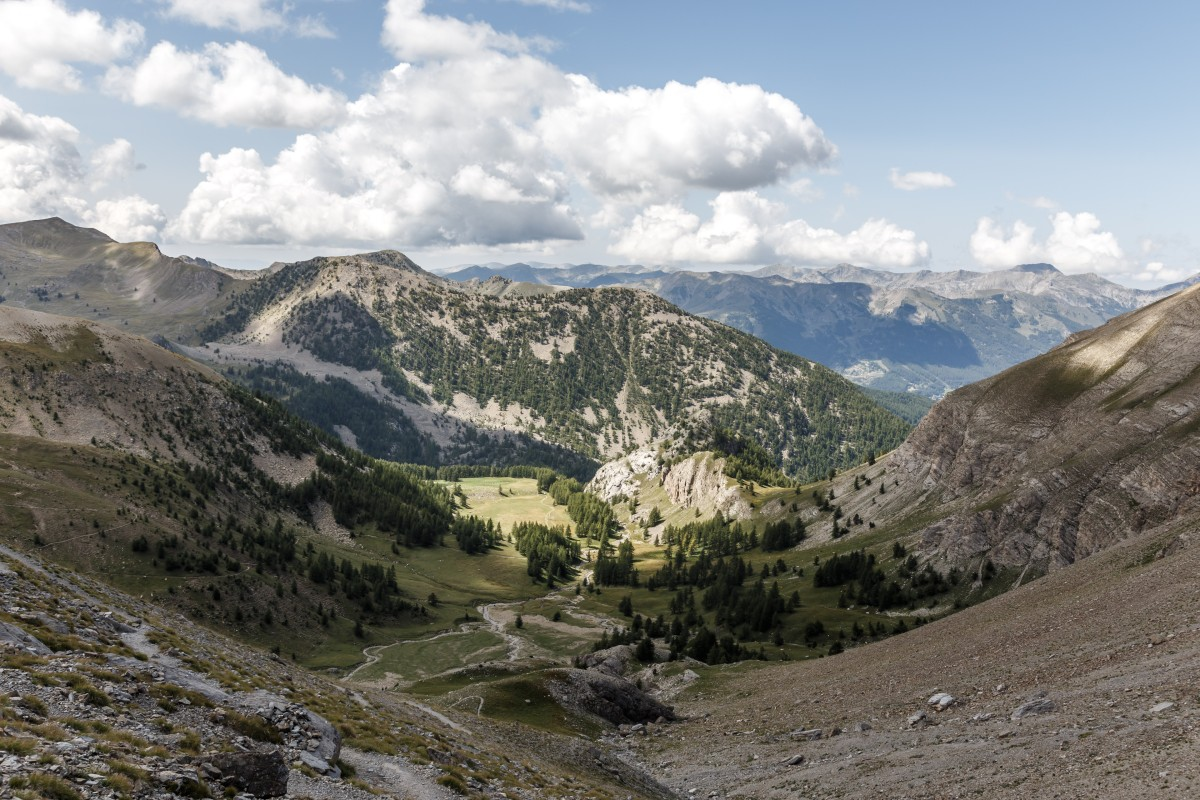 Landschaft im Nationalpark Mercantour am Lac d'Allos