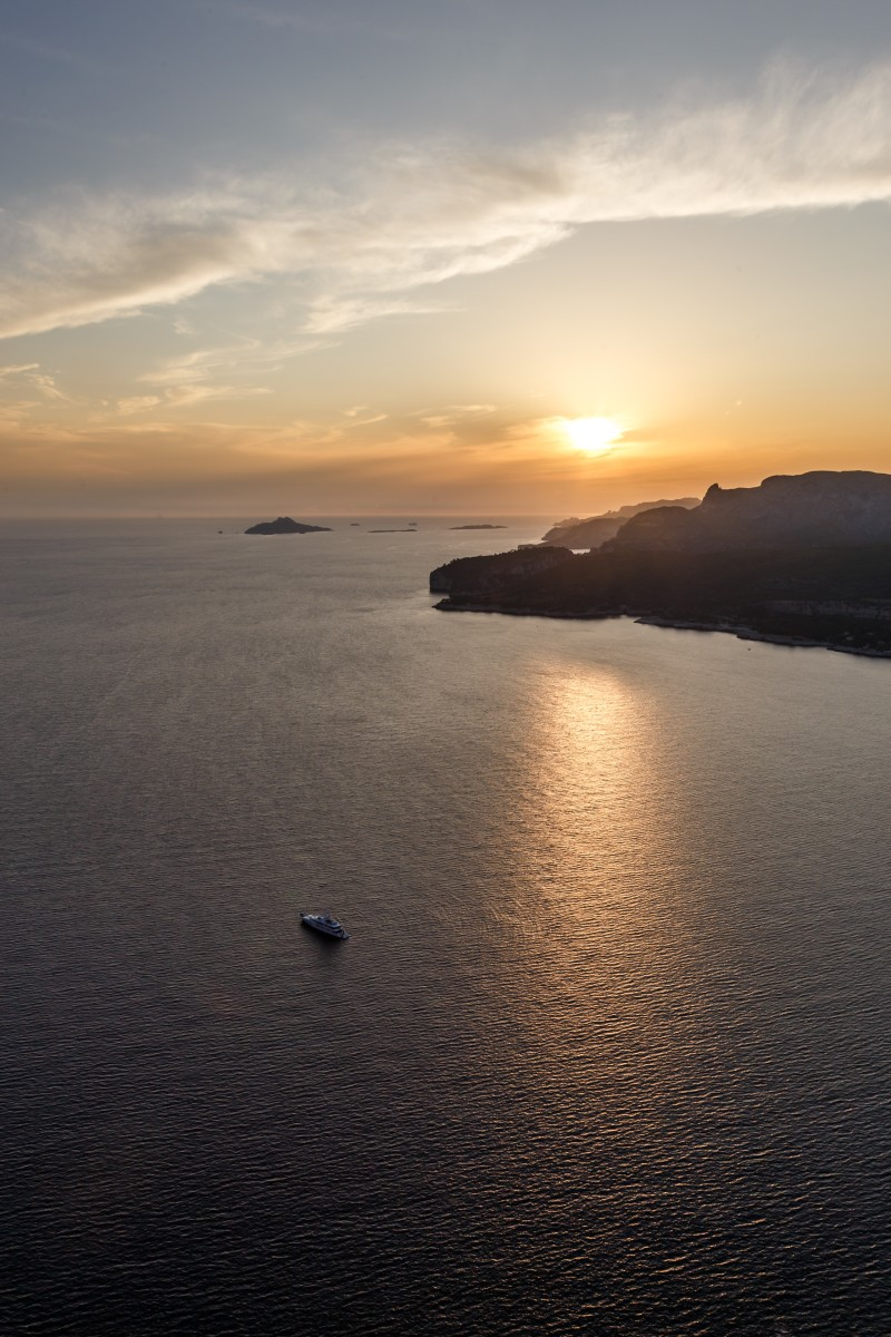 Sonnenuntergang am Cap Canaille und Cassis im Nationalpark Calanques