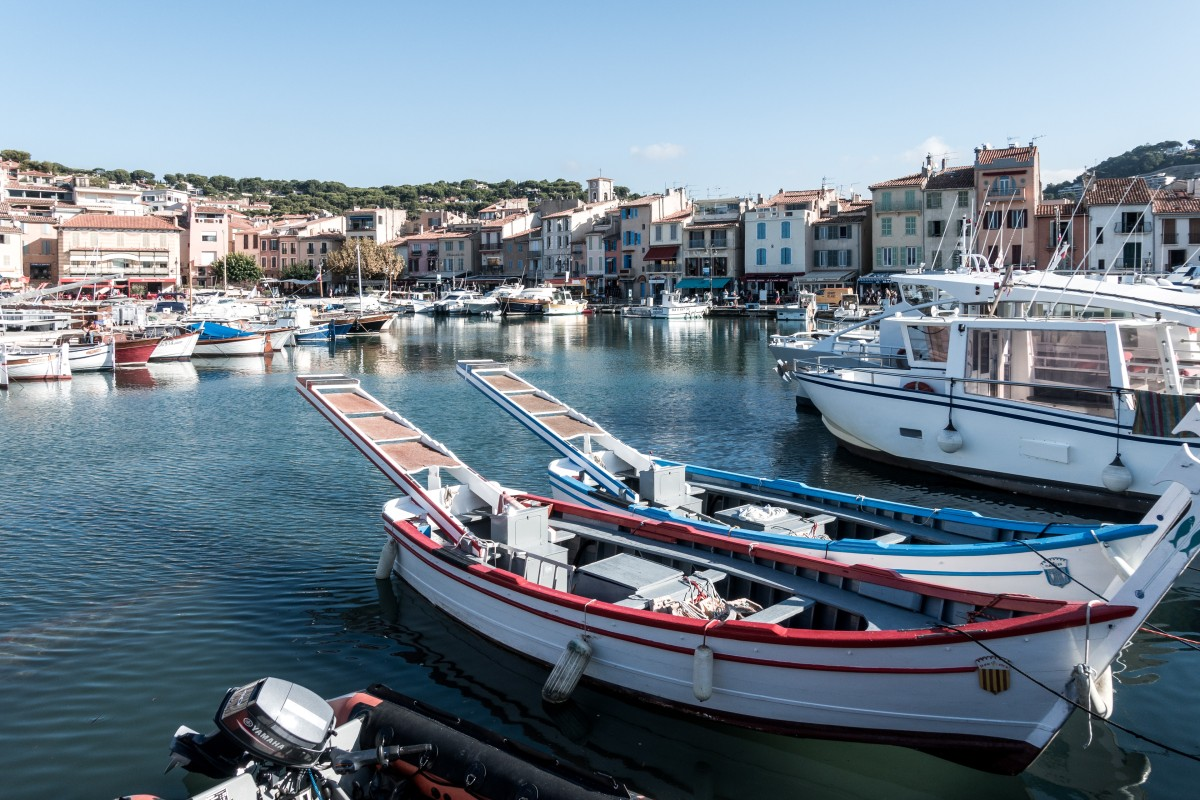 Segelboote im Hafen von Cassis