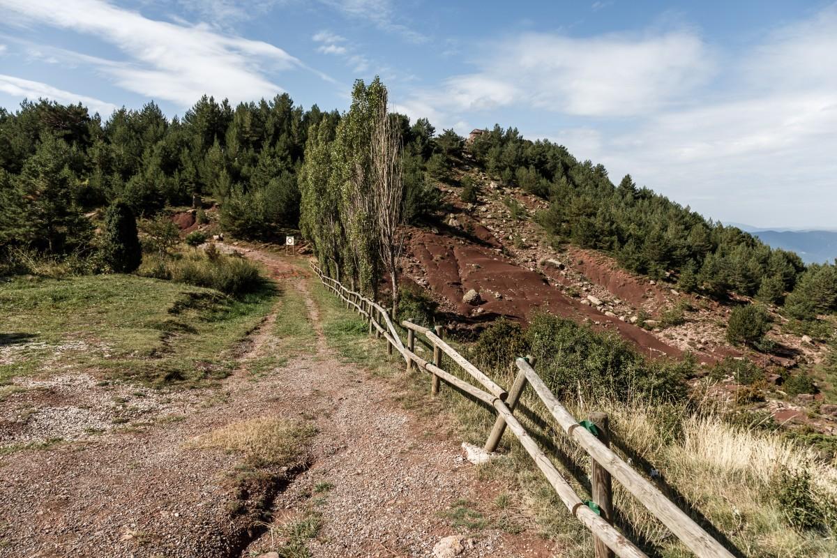 Pyrenäen-Landschaft auf spanischer Seite