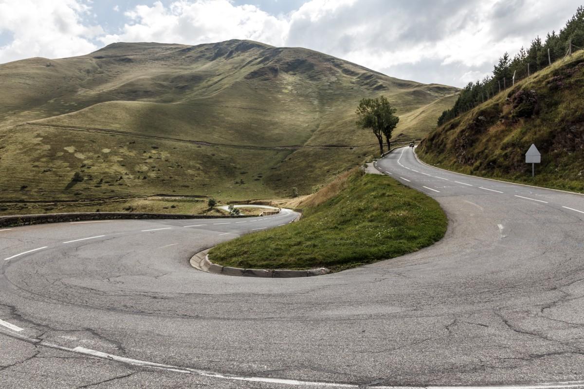 Straße zum Col de Peyresourde