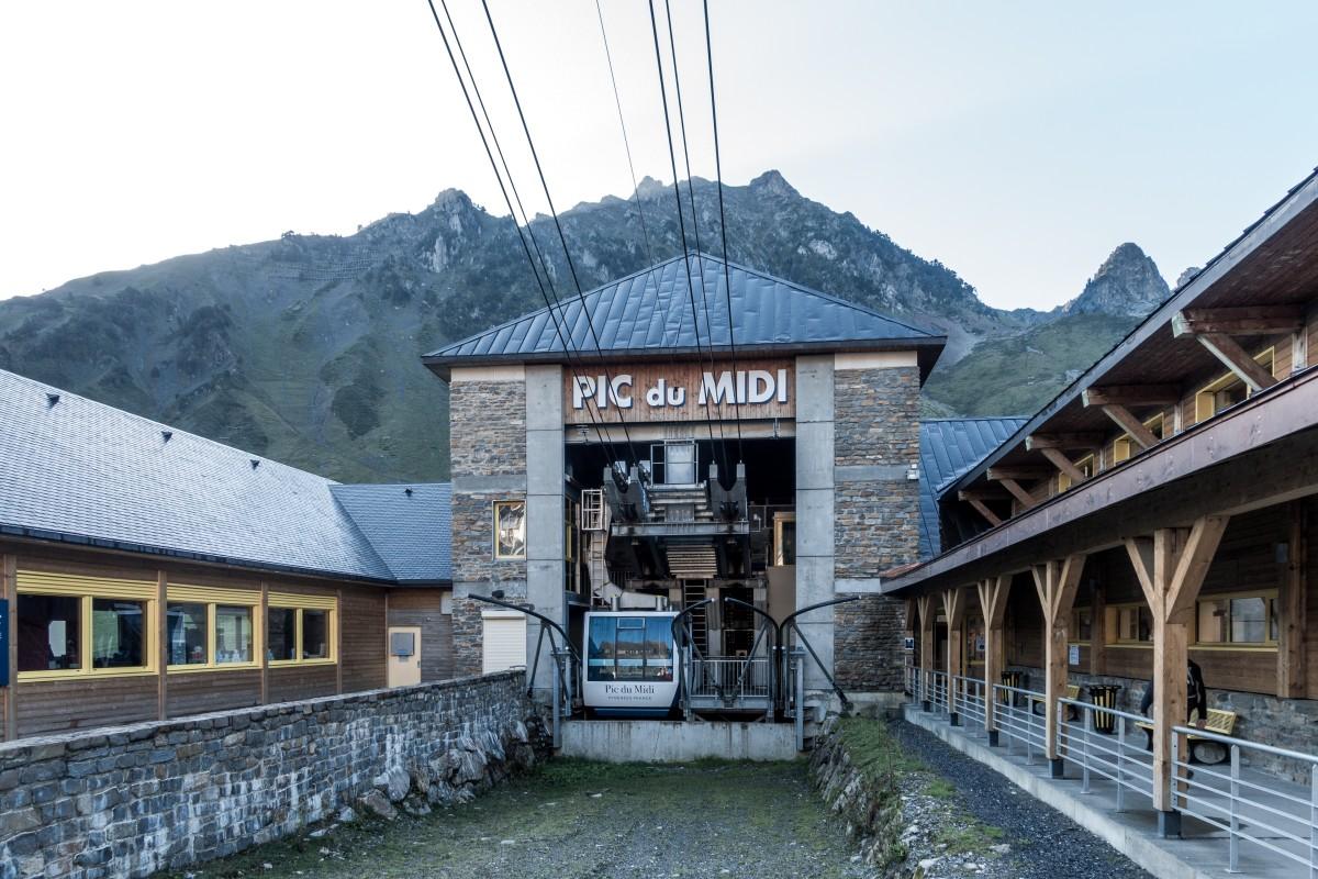 Talstation der Seilbahn zum Pic du Midi in La Mongie