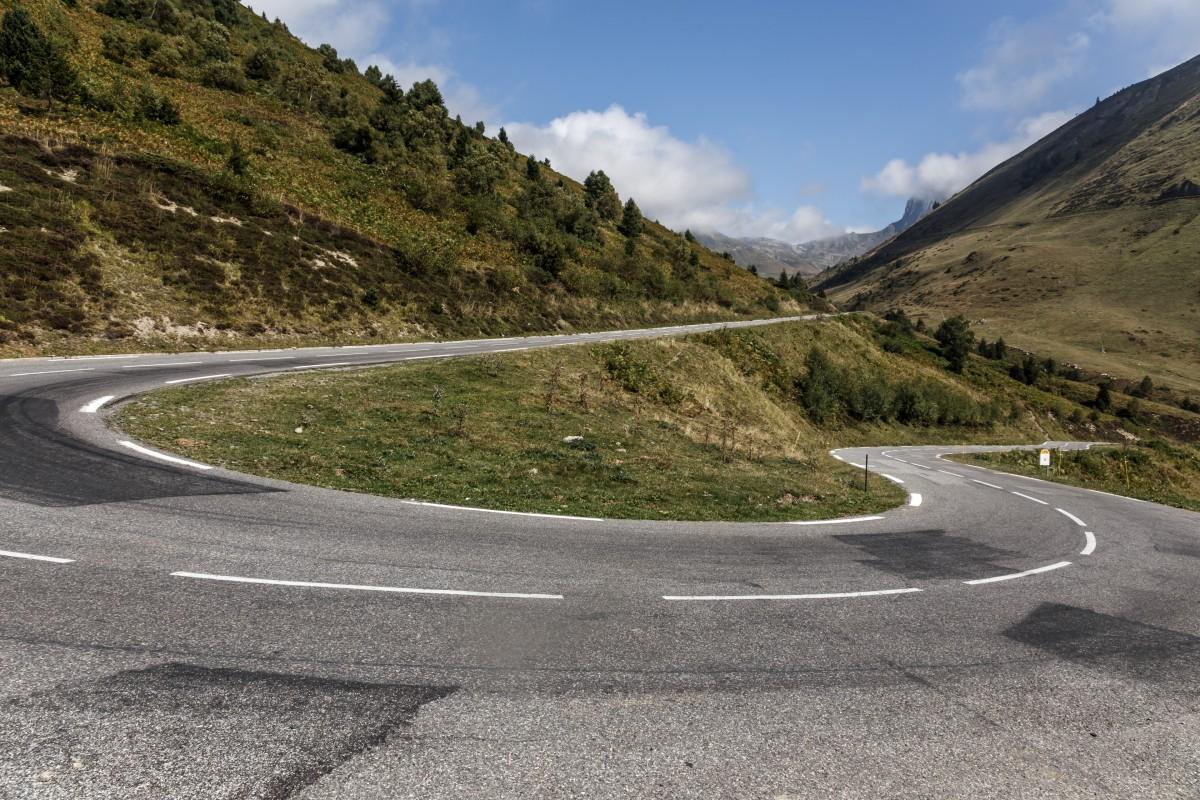 Straße zum Col du Tourmalet