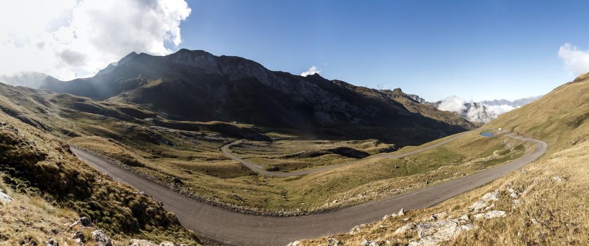 Straße zum Col des Tentes