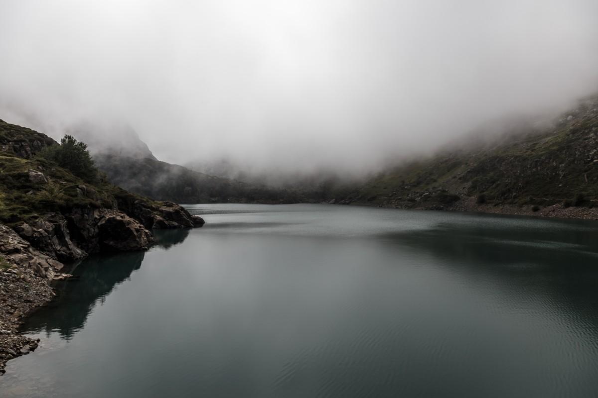 Nebel am Lac des Gloriettes