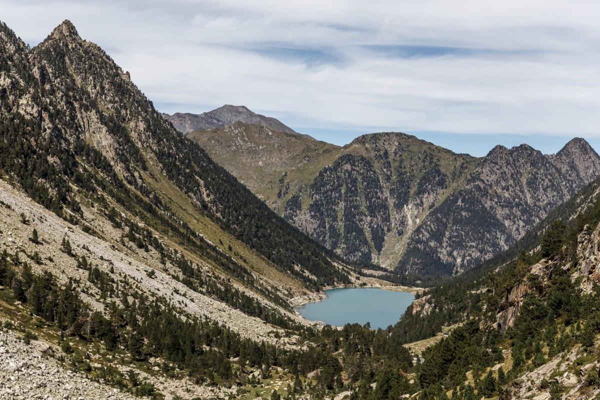 Lac de Gaube Bergsee in den Pyrenäen