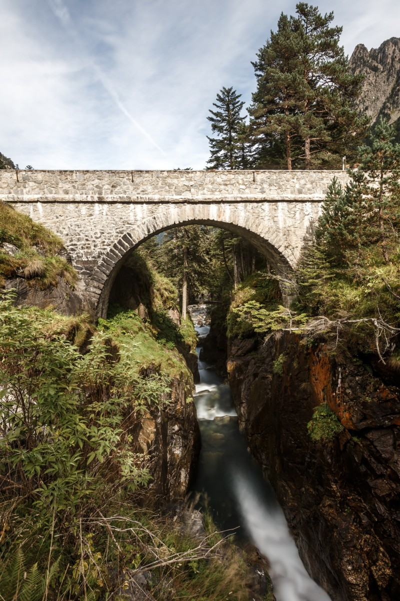 Wasserfall an der Pont d'Espagne in Cauterets