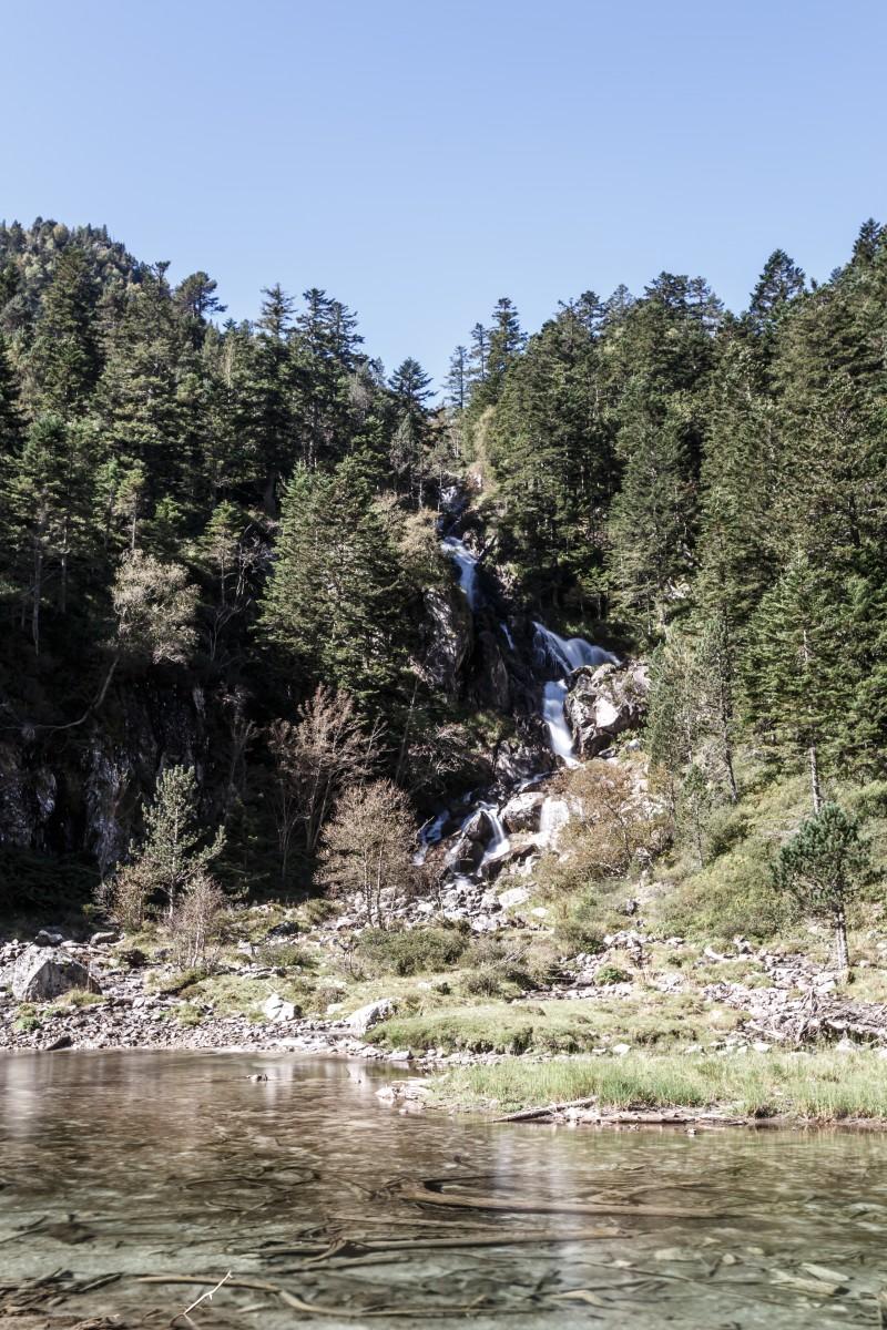 Wasserfall Cascade de Doumblas im Nationalpark Pyrenäen