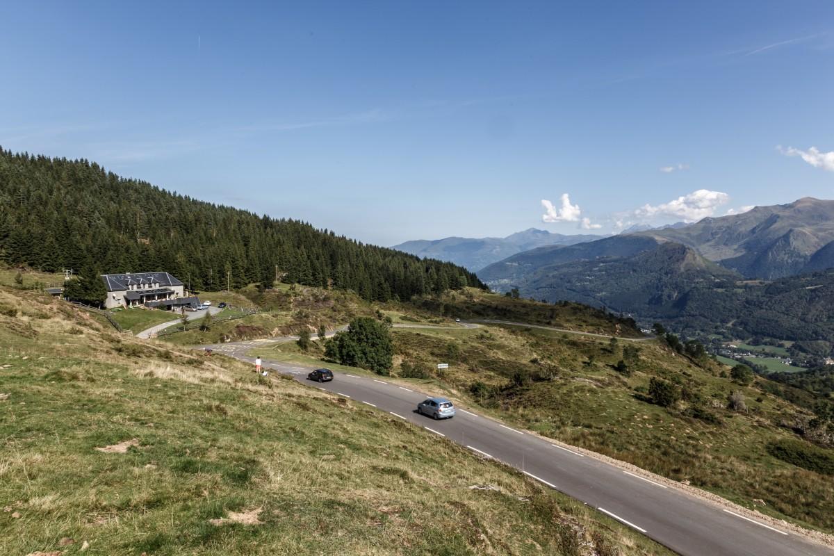 Landschaft am Col du Soulor in den Pyrenäen