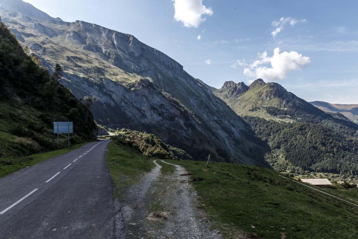 Straße zum Col d'Aubisque