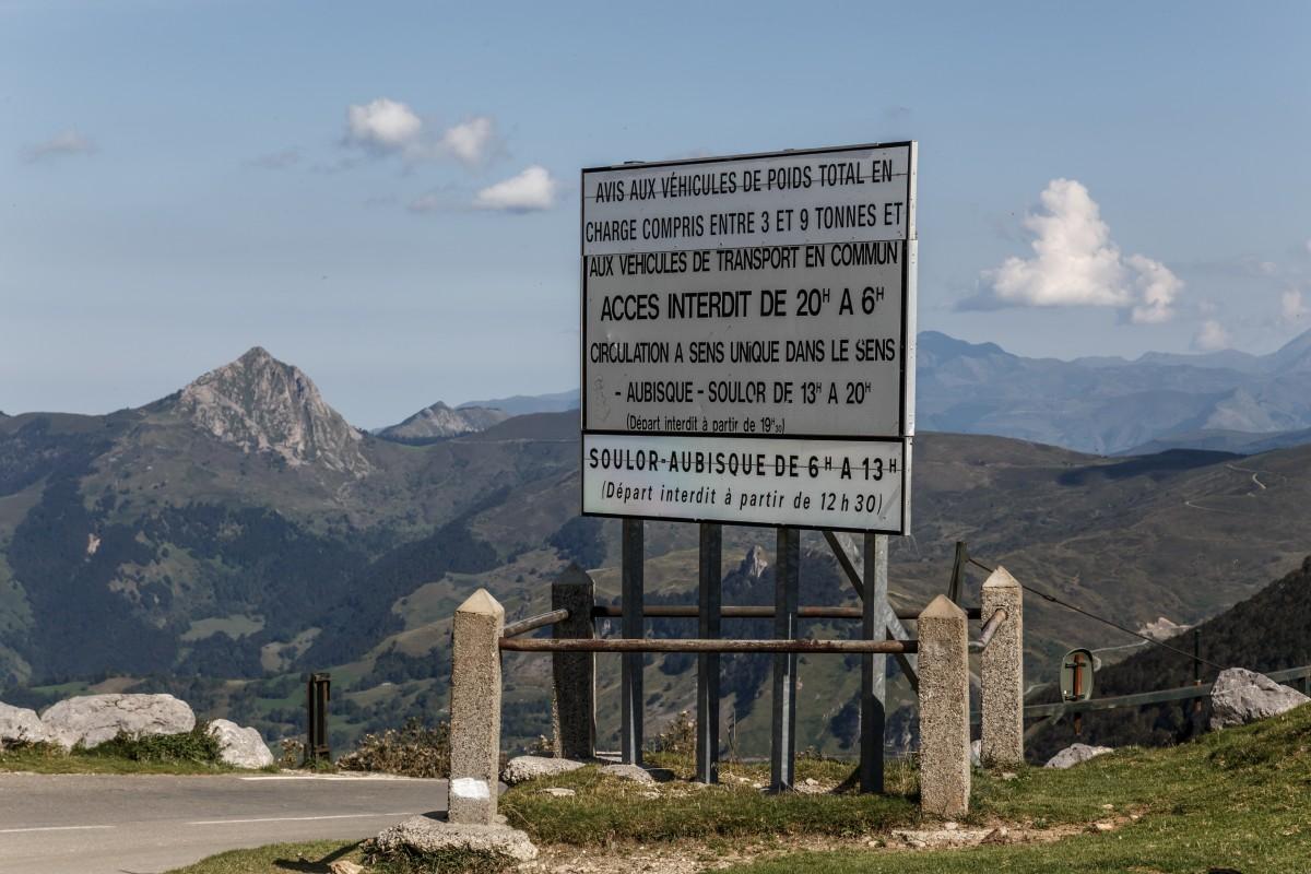Col d'Aubisque in den Pyrenäen