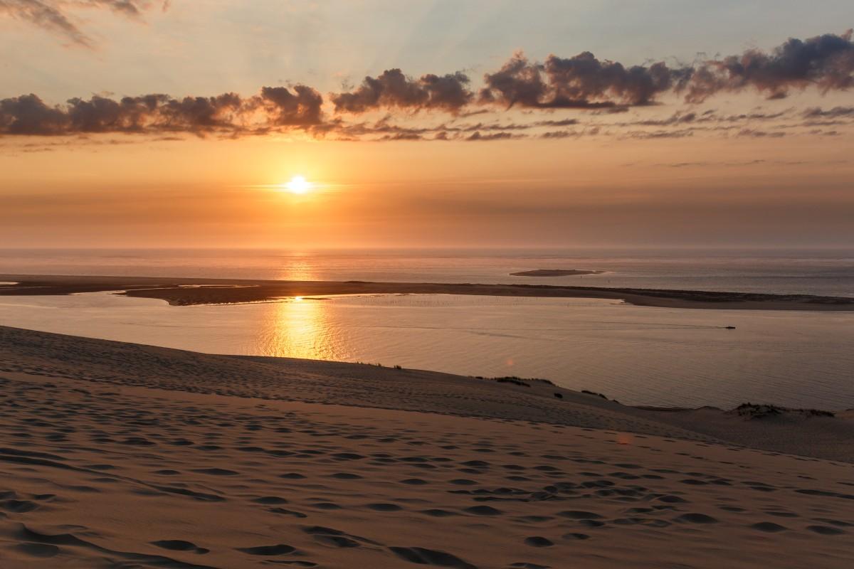 Sonnenuntergang auf der Dune du Pilat