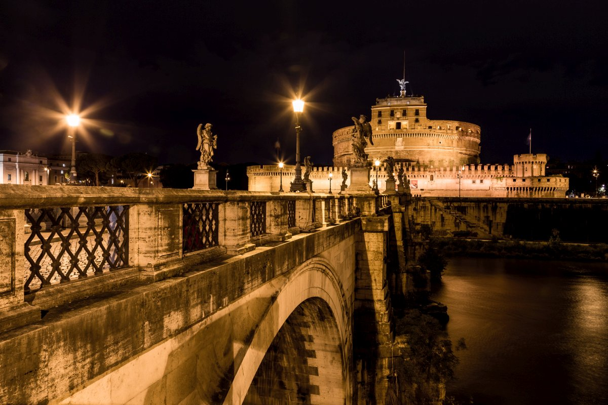 Ponte Sant' Angelo und Castel Sant' Angelo in Rom