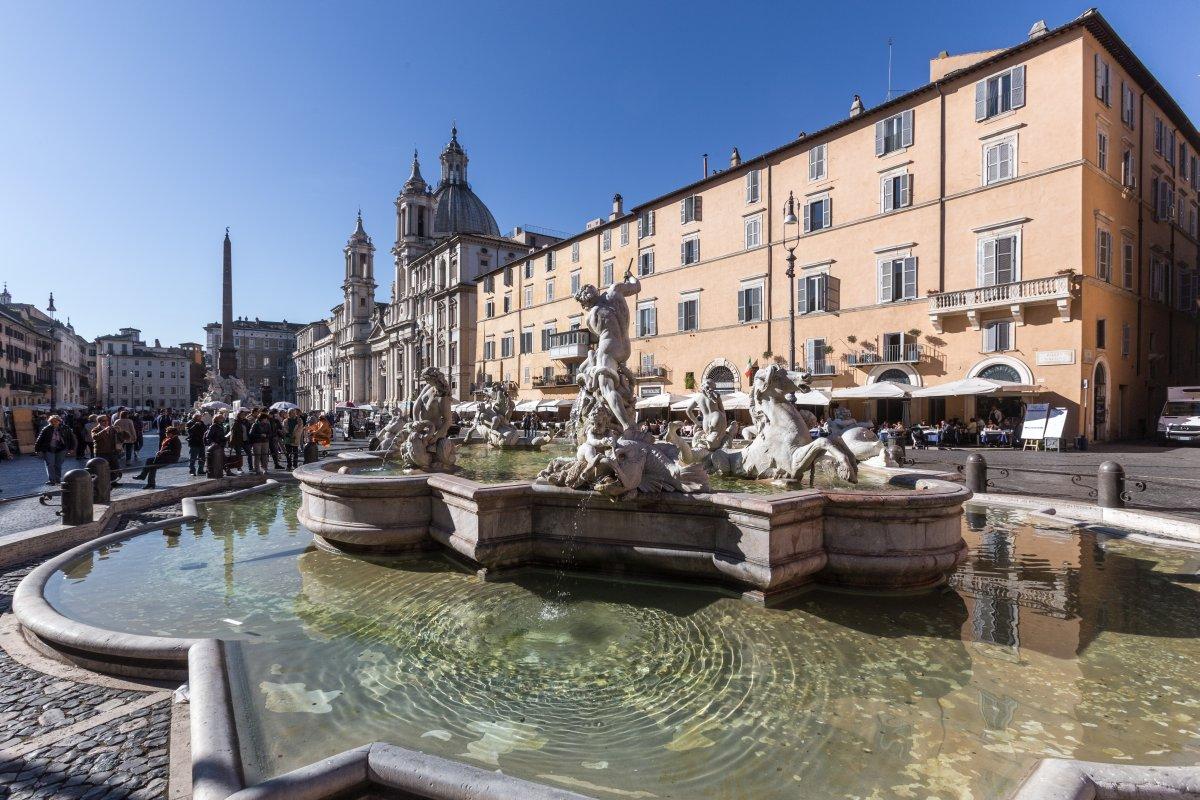 Brunnen auf der Piazza Navona in Rom