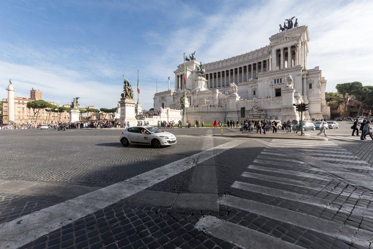 Piazza Venezia und Monumento a Vittorio Emanuele II in Rom