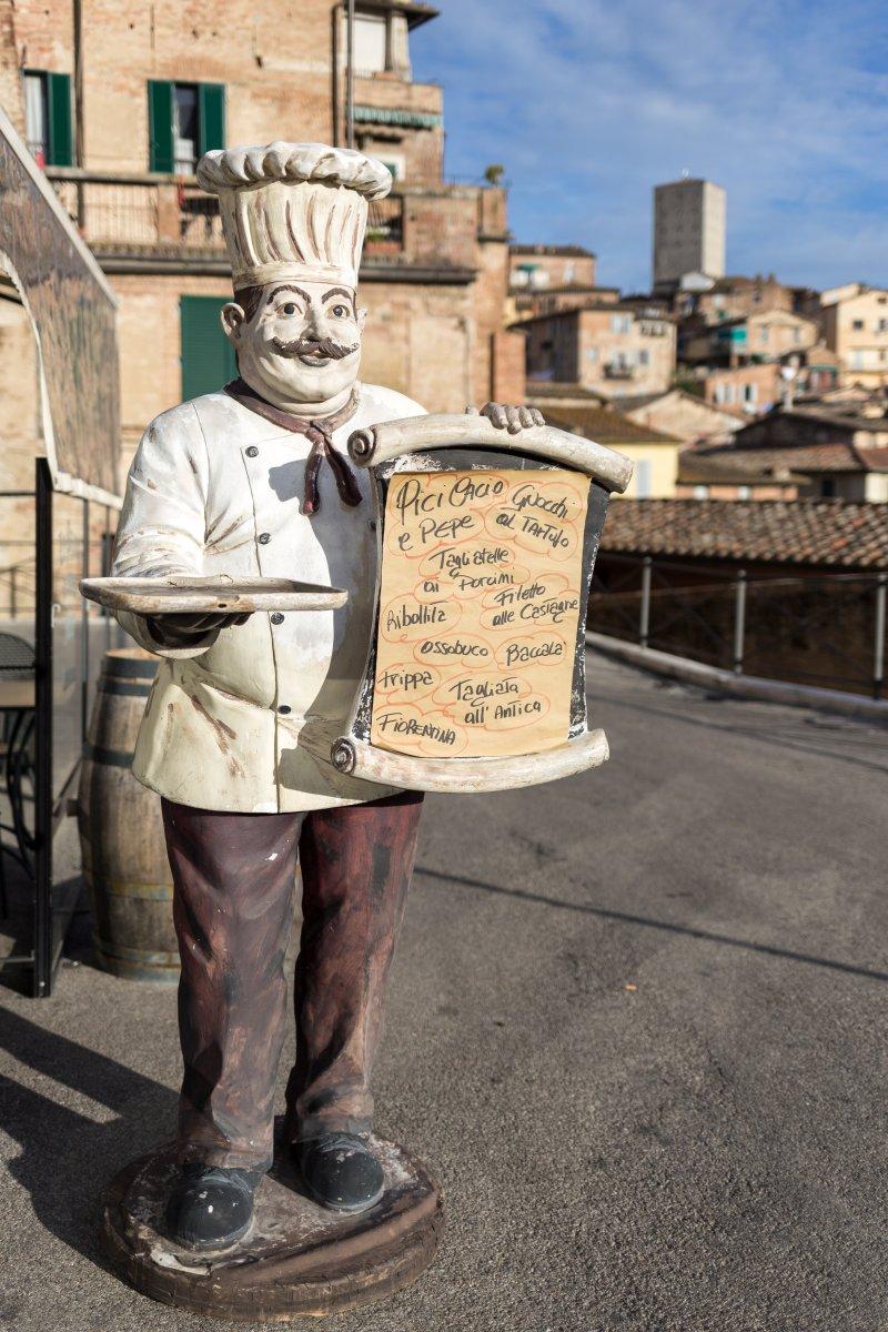 Restaurant in Siena in der Toskana