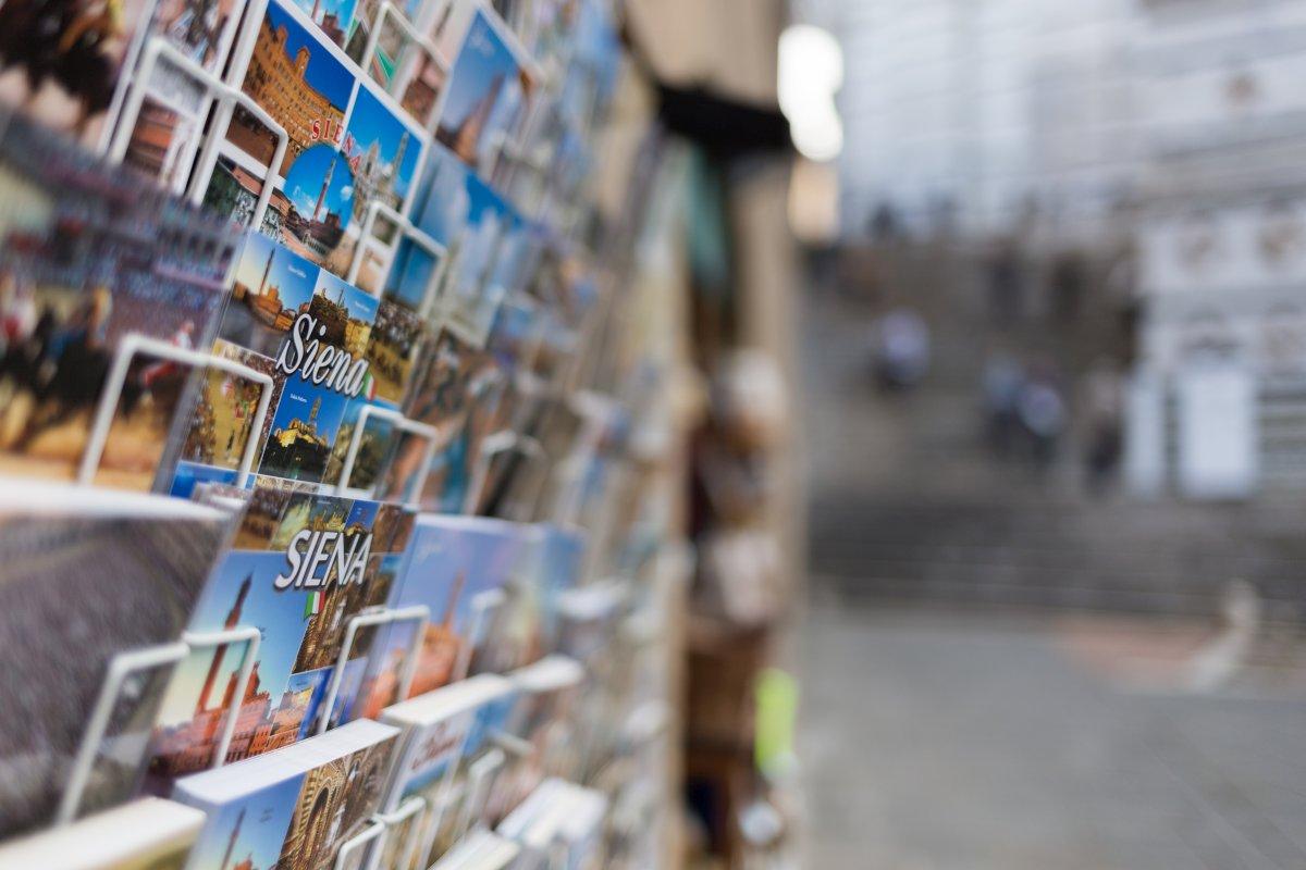 Postkarten in Siena in der Toskana