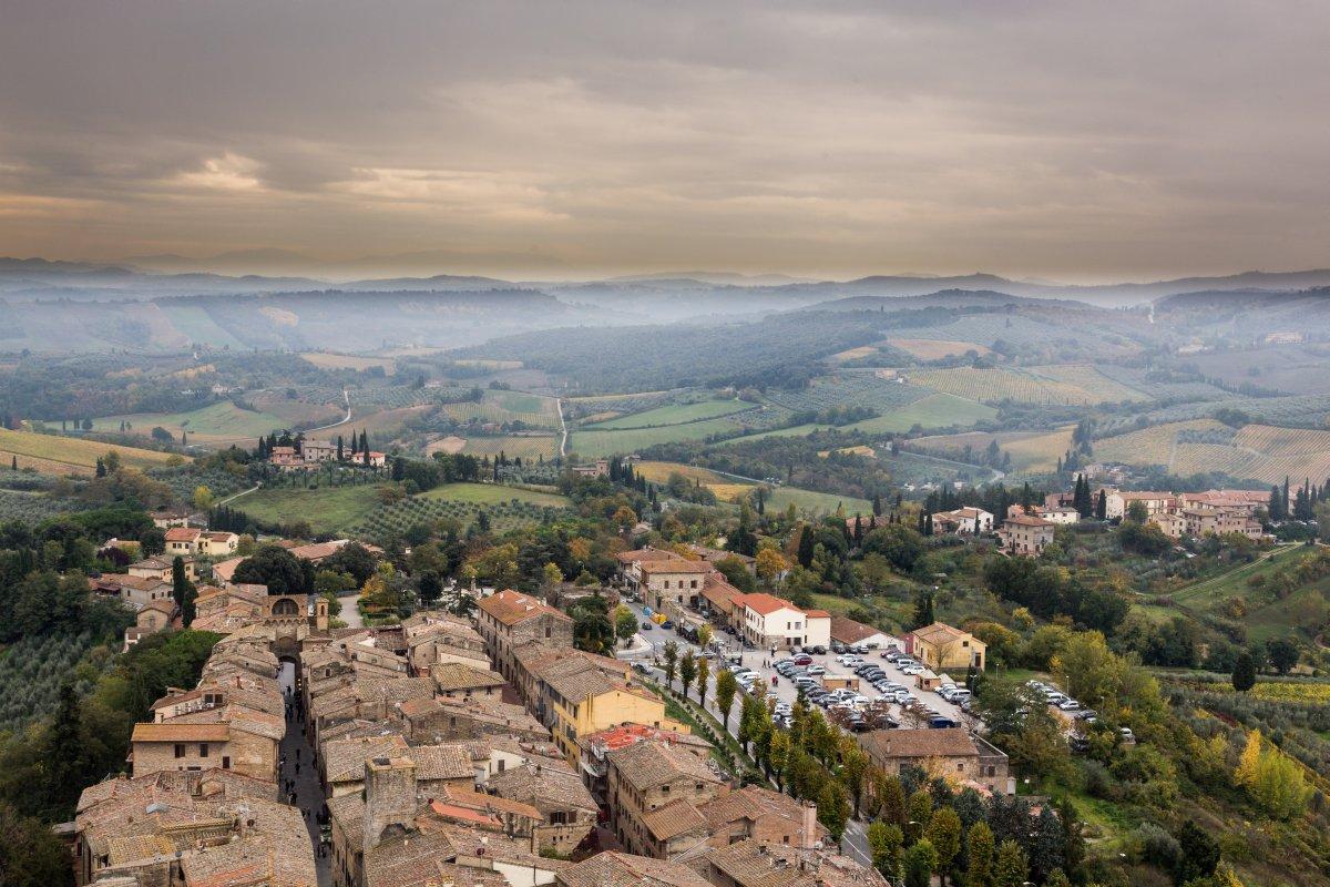 Ausblick vom Torre Grosse in San Gimignano