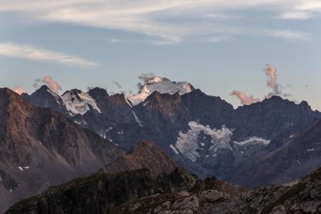 Sonnenuntergang auf den Gletschern des Parc National des Écrins